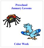 January Curriculum with four weeks of lessons plans, posters, calendars and printable activity pages