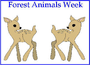 March Curriculum Poster For Forest Animals Week